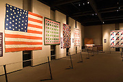 Topeka, Kansas KS, USA, Kansas museum of History, a display of Quilts