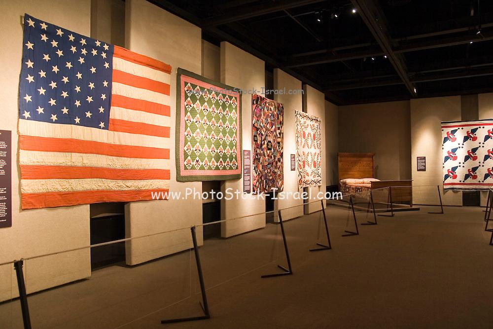 Topeka, Kansas KS, USA, Kansas museum of History, a display of Quilts
