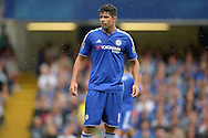 Diego Costa of Chelsea looking on. Barclays Premier League, Chelsea v Crystal Palace at Stamford Bridge in London on Saturday 29th August 2015.<br /> pic by John Patrick Fletcher, Andrew Orchard sports photography.