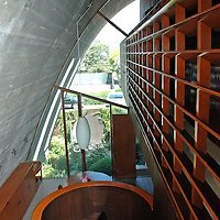 winding staircase and hallway