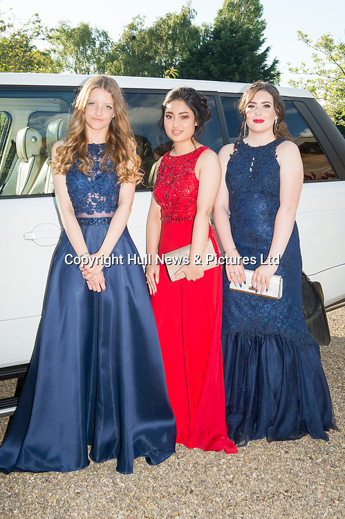 20 June 2019: Cleethorpes Academy Year 11 Prom at Brackenborough Hotel near Louth.<br /> (l-r) Latisha Goodwin-Glover Nargis Amini, Shannon Robson. <br /> Picture: Sean Spencer/Hull News & Pictures Ltd<br /> 01482 210267/07976 433960<br /> www.hullnews.co.uk         sean@hullnews.co.uk