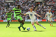 Forest Green Rovers Shamir Mullings(18) challenges Tranmere Rovers Adam Buxton(22) during the Vanarama National League Play Off Final match between Tranmere Rovers and Forest Green Rovers at Wembley Stadium, London, England on 14 May 2017. Photo by Shane Healey.