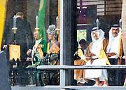 De Japanse keizer Naruhito heeft officieel de troon aanvaard en de belofte afgelegd dat hij zijn plicht als symbool van de staat zal vervullen. De 59-jarige Naruhito deed dat in een eeuwenoude ceremonie in de belangrijkste zaal van het keizerlijke paleis in Tokio in aanwezigheid van staatshoofden en gasten uit meer dan 180 landen.<br /> <br /> The Japanese emperor Naruhito has officially accepted the throne and made the promise that he will fulfill his duty as a symbol of the state. The 59-year-old Naruhito did that in an ancient ceremony in the main hall of the Imperial Palace in Tokyo in the presence of heads of state and guests from more than 180 countries.<br /> <br /> Op de foto / On the photo:  Koning Willem Alexander en Koningin Maxima / King Willem Alexander and Queen Maxima