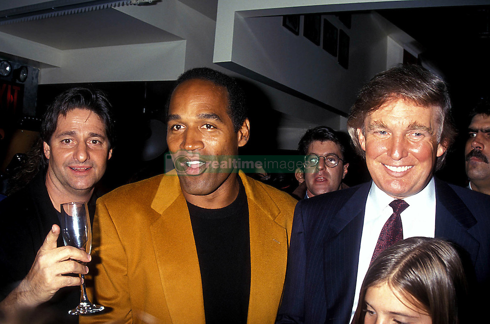Oct 19, 1993 - New York, New York, U.S. - O.J. SIMPSON and DONALD TRUMP at the the grand opening of the Harley-Davidson Cafe. (Credit Image: © John Barrett via ZUMA Wire)