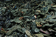 Auschwitz Death Camp, Poland, shoes.