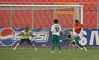 Photo: Steve Bond/Richard Lane Photography.<br />Egypt v Zambia. Africa Cup of Nations. 30/01/2008. Amr Zaki (R, dark shirt) blasts Egypt ahead