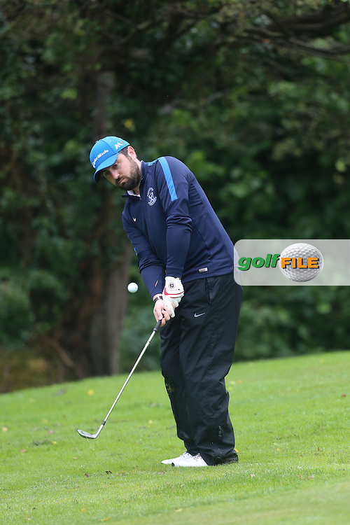 Conor Sharkey (Strabane) during the Ulster Mixed Foursomes Final, Shandon Park Golf Club, Belfast. 19/08/2016<br /> <br /> Picture Jenny Matthews / Golffile.ie<br /> <br /> All photo usage must carry mandatory copyright credit (© Golffile | Jenny Matthews)