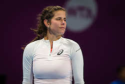 February 12, 2019 - Doha, QATAR - Julia Goerges of Germany in action during her first-round match at the 2019 Qatar Total Open WTA Premier tennis tournament (Credit Image: © AFP7 via ZUMA Wire)
