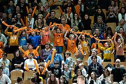 during volleyball match between ACH Volley Ljubljana (SLO) and Kuzbas Kemerevo (RUS) n 2nd Round, group B of 2019 CEV Volleyball Champions League, on December 11, 2019 in Hala Tivoli, Ljubljana, Slovenia. Grega Valancic / Sportida
