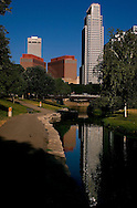 7/17/2005 -- Omaha, NE, U.S.A.Downtown Omaha Nebraska skyline shot.. (photo by Chris Machian/Prairie Pixel Group).