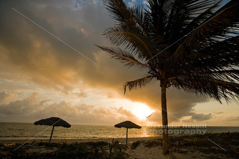 Sunrise on the beach, Cuba.  Playa Santa Lucia