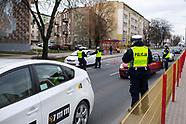 Kontrola policyjna kierowców w związku z epidemią koronawirusa