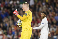 October 15, 2018 - Seville, Spain - JORDAN PICKFORD of England in action during the UEFA Nations League Group A4 soccer match between Spain and England at the Benito Villamarin Stadium (Credit Image: © Daniel Gonzalez Acuna/ZUMA Wire)