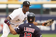 CHICAGO - JUNE 01:  Tim Anderson #7 of the Chicago White Sox fields against the Cleveland Indians on June 1, 2019 at Guaranteed Rate Field in Chicago, Illinois.  (Photo by Ron Vesely)  Subject:  Tim Anderson