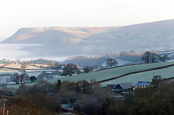 © Licensed to London News Pictures. 02/01/2019. Builth Wells, Powys, Wales, UK. Wintry landscape near Builth Wells in Powys, Wales, UK. Temperatures dropped overnight to minus 3.5 degrees centigrade in Powys, Wales, UK. credit: Graham M. Lawrence/LNP