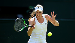 Naomi Broady in action on day two of the Wimbledon Championships at the All England Lawn Tennis and Croquet Club, Wimbledon.
