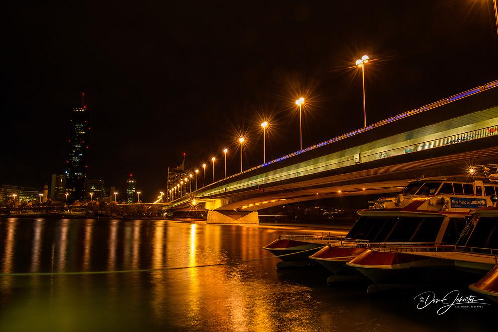 Bridge over the Danube, Vienna, Lower Austria, Austria