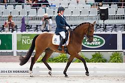 Sanne Voets, (NED), Vedet Pb - Individual Test Grade III Para Dressage - Alltech FEI World Equestrian Games™ 2014 - Normandy, France.<br /> © Hippo Foto Team - Jon Stroud <br /> 25/06/14