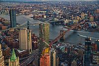 Manhattan Bridge (left) & Brooklyn Bridge