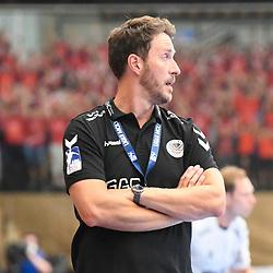 Ludwigshafens Trainer Benjamin Matschke  beim Spiel in der Handball Bundesliga, Die Eulen Ludwigshafen - THW Kiel.<br /> <br /> Foto © PIX-Sportfotos *** Foto ist honorarpflichtig! *** Auf Anfrage in hoeherer Qualitaet/Aufloesung. Belegexemplar erbeten. Veroeffentlichung ausschliesslich fuer journalistisch-publizistische Zwecke. For editorial use only.