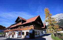 House at Dachstein, Ramsau, Austria, on October 22, 2008. (Photo by Vid Ponikvar / Sportida).