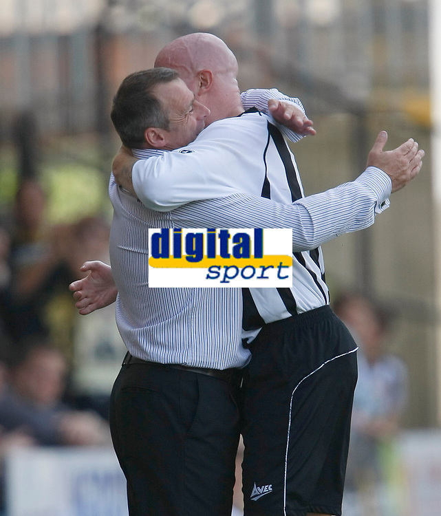 Photo: Steve Bond/Richard Lane Photography. Nottingham County v Nottigham Forest. Pre season Friendly. 25/07/2009. Ian McParland (L) and Lee Hughes (R) celebrate