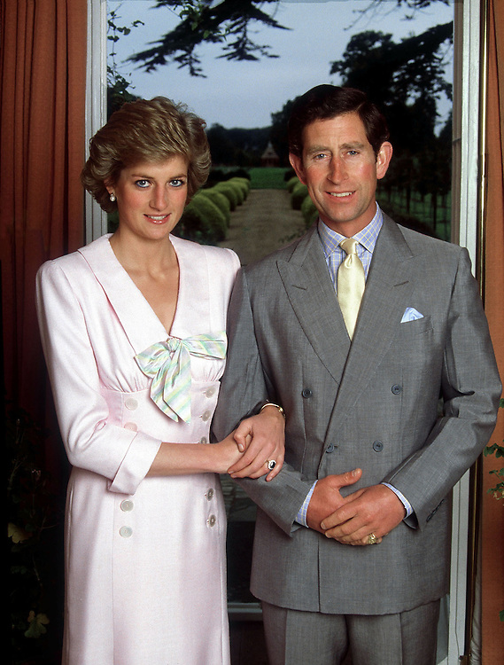 The Prince and Princess of Wales seen at their home Highgrove House in August 1988. Exclusive photograph by Jayne Fincher