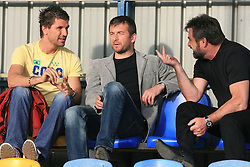 Dalibor Stevanovic, Dejan Djuranovic and Stane Orazem at 32th Round of Slovenian First League football match between NK Domzale and NK Hit Gorica in Sports park Domzale, on May 6, 2009, in Domzale, Slovenia. Gorica won 2:0. (Photo by Vid Ponikvar / Sportida)
