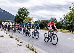 11.07.2019, Kitzbühel, AUT, Ö-Tour, Österreich Radrundfahrt, 5. Etappe, von Bruck an der Glocknerstraße nach Kitzbühel (161,9 km), im Bild Ben Hermans (BEL, Israel Cycling Academy) im roten Flyeralarm Trikot des Gesamtführenden der Österreich Rundfahrt // Ben Hermans of Belgium Team Israel Cycling Academy in the red Flyeralarm overall leaders jersey during 5th stage from Bruck an der Glocknerstraße to Kitzbühel (161,9 km) of the 2019 Tour of Austria. Kitzbühel, Austria on 2019/07/11. EXPA Pictures © 2019, PhotoCredit: EXPA/ Reinhard Eisenbauer