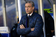 Brighton & Hove Albion Manager Chris Hughton looks on. <br /> Sky Bet Football League Championship match, Birmingham City v Brighton & Hove Albion at St.Andrew's Stadium in Birmingham, the Midlands on Tuesday 5th April 2016.<br /> Pic by Ian Smith, Andrew Orchard Sports Photography.