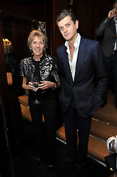 LADY JANE SPENCER-CHURCHILL and her son the HON.ALEXANDER SPENCER-CHURCHILL at a signing of Redeeming Features - Nicky Haslam's autobiography hosted by House & Garden magazine held at Ralph Lauren, Bond Street, London on 29th October 2009.