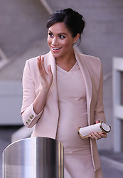 The Duchess of Sussex arrives at the National Theatre. 29 Jan 2019 Pictured: Duchess of Sussex arrives at the National Theatre London. Photo credit: ©stephenbutler / MEGA TheMegaAgency.com +1 888 505 6342