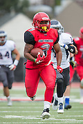 Community College of San Francisco running back Lorenzo Logwood (3) carries the ball for a touchdown against College of Siskiyous at Community College of San Francisco in San Francisco, Calif., on September 10, 2016. (Stan Olszewski/Special to S.F. Examiner)