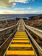 Boardwalk to viewing platform at Cape Bridgewater along the Great Ocean Road in southern Australia.<br /> Limited Edition of 17
