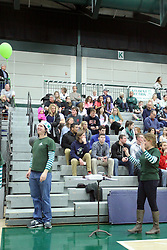 21 February 2015:  pep band conductors during an NCAA women's division 3 CCIW basketball game between the Elmhurst Bluejays and the Illinois Wesleyan Titans in Shirk Center, Bloomington IL
