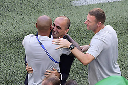 July 14, 2018 - Saint Petersbourg, Russie - SAINT PETERSBURG, RUSSIA - JULY 14 : Thierry Henry ass. coach of Belgian Team & Roberto Martinez head coach of Belgian Team during the FIFA 2018 World Cup Russia Play-off for third place match between Belgium and England at the Saint Petersburg Stadium on July 14, 2018 in Saint Petersburg, Russia, 14/07/18 (Credit Image: © Panoramic via ZUMA Press)