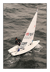 Lorenzo Chiavarini, GBR-197686.Day 2 brought Easterly changeable conditions for the Laser Radial World Championships, taking place at Largs, Scotland GBR. ..118 Women from 35 different nations compete in the Olympic Women's Laser Radial fleet and 104 Men from 30 different nations. .All three 2008 Women's Laser Radial Olympic Medallists are competing. .The Laser Radial World Championships take place every year. This is the first time they have been held in Scotland and are part of the initiaitve to bring key world class events to Britain in the lead up to the 2012 Olympic Games. .The Laser is the world's most popular singlehanded sailing dinghy and is sailed and raced worldwide. ..Further media information from .laserworlds@gmail.com.event press officer mobile +44 7775 671973  and +44 1475 675129 .