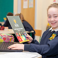 Emma McMahon working on her Jessies project 'Feakle Family Favourites' Cookbook