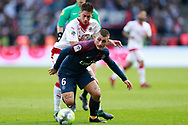 Paris Saint Germain's Italian midfielder Marco Verratti vies during the French Championship Ligue 1 football match between Paris Saint-Germain and Girondins de Bordeaux on September 30, 2017 at the Parc des Princes stadium in Paris, France - Photo Benjamin Cremel / ProSportsImages / DPPI