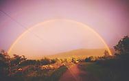 Double rainbow above road. <br /> Arcoiris Doble sobre la carretera