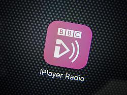 BBC IPlayer Radio streaming app on an iPhone 6 Plus smart phone