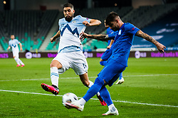 Miha Mevlja of Slovenia during football match between National Teams of Slovenia and Greece in UEFA Nations League 2020, on September 3, 2020 in SRC Stozice, Ljubljana, Slovenia. Photo by Grega Valancic / Sportida