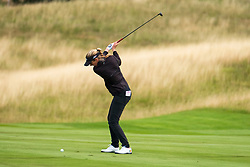 Gleneagles, Scotland, UK; 10 August, 2018.  Day three of European Championships 2018 competition at Gleneagles. Men's and Women's Team Championships Round Robin Group Stage. Four Ball Match Play format.  Pictured; Chloe Leurquin of Belgium  plays approach shot to the 2nd hole in match against GB.