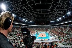 Arena Stozice during volleyball match between ACH Volley (SLO) and Jastrzebski Wegiel (POL) in 6th Round of 2011 CEV Champions League, on January 12, 2011 in Arena Stozice, Ljubljana, Slovenia. (Photo By Vid Ponikvar / Sportida.com)