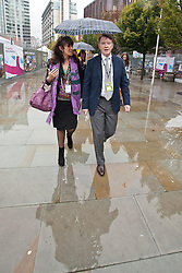 © Licensed to London News Pictures. 01/10/2012. Manchester, UK . Peter Mandelson arrives at the conference venue . Labour Party Conference Day 2 at Manchester Central . Photo credit : Joel Goodman/LNP