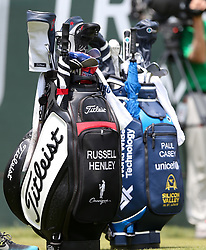 June 24, 2018 - Cromwell, Connecticut, United States - Russell Henley and Paul Casey golf bags on the first tee during the final round of the Travelers Championship at TPC River Highlands. (Credit Image: © Debby Wong via ZUMA Wire)