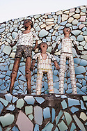 Nek Chand Fantasy Rock Garden, Chandigarh, Punjab, Indien, INDIA.NOT FOR COMMERCIAL USE UNLESS PRIOR AGREED WITH PHOTOGRAPHER. (Contact Christina Sjogren at email address : cs@christinasjogren.com )