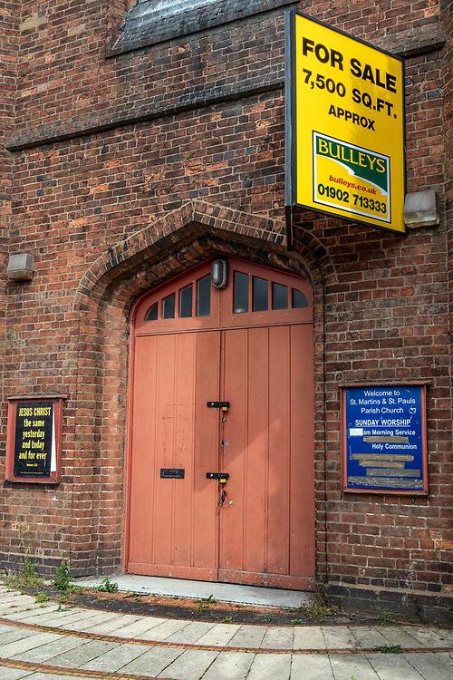 Church for sale, Tipton, northwest of Birmingham, West Midlands, UK