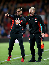 AFC Bournemouth manager Eddie Howe (right) and assistant manager Jason Tindall (left) gesture on the touchline