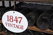 old bottles in the cellar 1847 ferreira port lodge vila nova de gaia porto portugal
